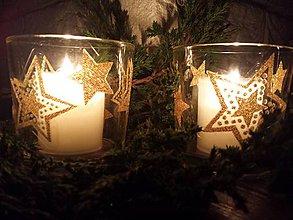 Svietidlá a sviečky - Svietnik s hviezičkami - 8729113_