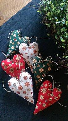 Dekorácie - Vianočne srdiečko - 8725640_