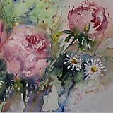 Obrazy - Ružová romantika - 8726360_