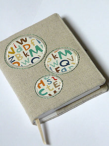 Papiernictvo - Obal na zápisník A6  - písmená - 8729302_