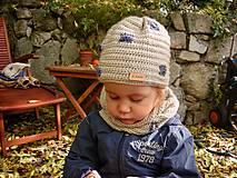 Detské doplnky - Béžový nákrčník - 8725263_