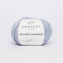 Galantéria - Priadza KATIA Cotton Cashmere (58 svetlá džínsová) - 8725160_