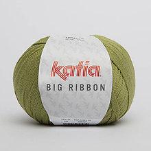 Galantéria - Priadza KATIA Big Ribbon (20 olivová) - 8725478_