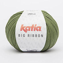 Galantéria - Priadza KATIA Big Ribbon (33 stredne zelená - výpredaj) - 8725482_