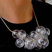 Sady šperkov - Živá voda na zlatej hadej retiazke - 8727267_
