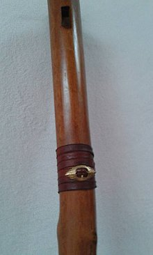 Hudobné nástroje - Fujara s ozdobnou prackou - 8726118_