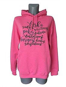 Mikiny - Mikina UNI - ružová Candy - 8729825_