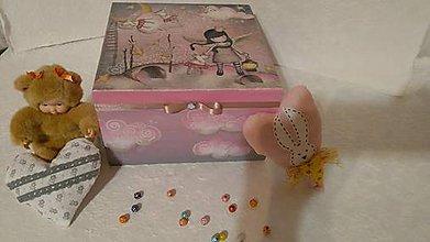 Krabičky - Ružové ligotavé malé pre slečinky - 8729085_