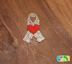 Pierka - Svadobné pierko Čipkované červené - 8732564_
