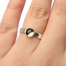 Prstene - Mini Elegant Smoky Quartz Ring Silver Ag 925 / Strieborný prsteň s dymovým krištáľom /0463 - 8730131_