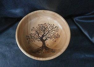 Nádoby - dekoratívna drevená miska... - 8730134_