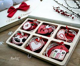 Dekorácie - Drevené vianočné ozdoby - Retro kolekcia II. - 8733764_