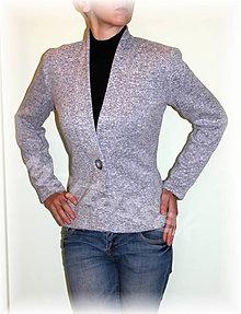 Svetre/Pulóvre - Kabátek na knoflík-svetrovina(více barev) (Fialová) - 8730227_