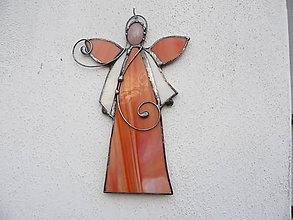 Dekorácie - Vitrážový anjelik - 8730507_