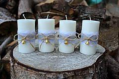 Adventné sviečky so zvončekmi