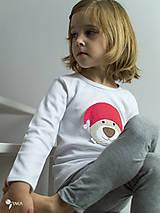 Detské oblečenie - tričko VIANOČNÝ MACKO kr/dl rukáv - veľ. od 86 do 128 - 8733925_
