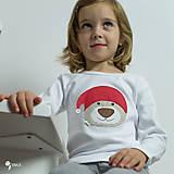 Detské oblečenie - tričko VIANOČNÝ MACKO kr/dl rukáv - veľ. od 86 do 128 - 8733929_