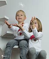 Detské oblečenie - tričko VIANOČNÝ MACKO kr/dl rukáv - veľ. od 86 do 128 - 8733930_