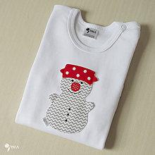 Detské oblečenie - body SNEHULIAK (dlhý/krátky rukáv) - 8730942_