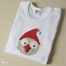Detské oblečenie - body VIANOČNÝ GABO (dlhý/krátky rukáv) - 8731191_