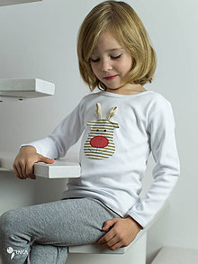 Detské oblečenie - tričko SOBÍK kr/dl rukáv - veľ. od 86 do 128 - 8733470_