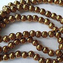 Minerály - Hematit 4mm-1ks (zlatá) - 8730613_