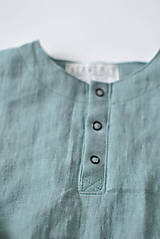 Detské oblečenie - Tunika HUGO dymovo zelená - 8730587_