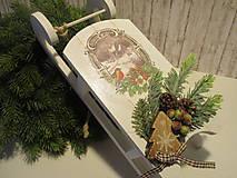 Dekorácie - Vianočná dekorácia - sane - 8732505_