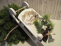 Dekorácie - Vianočná dekorácia - sane - 8732540_