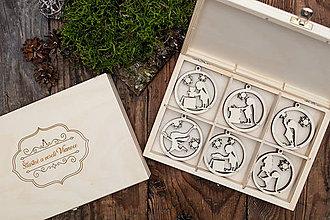 Dekorácie - Vianočné ozdoby z dreva - KOLEKCIA VIANOČNÝ ŠKRIATOK - 8731903_