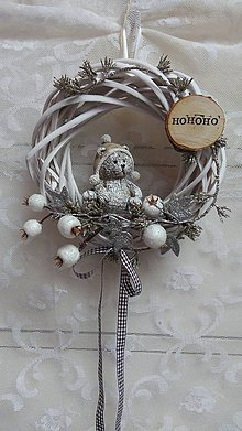 Dekorácie - Veniec vianočný ...macko - 8734115_
