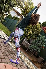 Nohavice - Farebné elastické legíny s motívom autorského obrazu: David Bowie - 8734015_