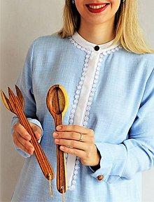 Pomôcky - Sada drevenej varešky a vydličky na varenie - 8733201_