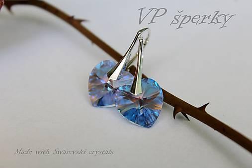 Strieborné náušničky so Swarovski crystals - srdce   VPsperky ... 5f4f6a31f18