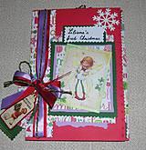 Papiernictvo - Vianočný pohľadnicový mini album pre dievčatko - vnútri zdobený - 8731707_