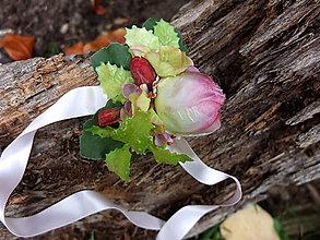 Náramky - růže a poupata - 8733548_