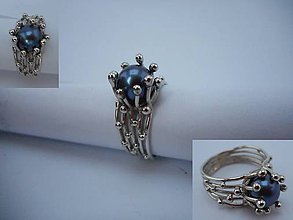 Prstene - Čierna perla - 8730573_