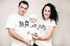 MR, MRS, JR - rodinná sada tričiek