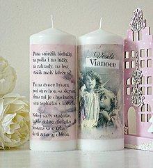 Svietidlá a sviečky - Padá sniežik duo sviečok XL20cm - 8732075_