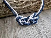 Náhrdelníky - Uzlový náhrdelník z dvoch šnúr - 8730335_