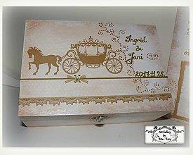 """Krabičky - Darček pre svadobčanov-krabica """"Gold"""" :) - 8734089_"""
