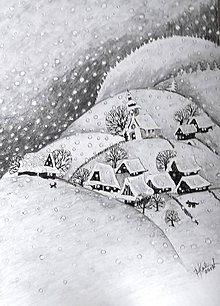 Kresby - zimná idylka... :-) - 8732200_