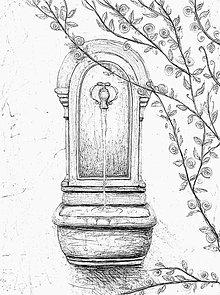 Kresby - Fontána, obrázok - 8730994_