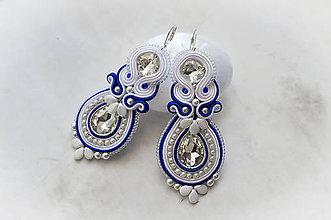Náušnice - Svadobné náušnice/Ag 925 - Pure (Modrá) - 8732944_