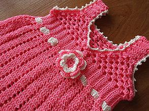 Detské oblečenie - Háčkované šaty - 8731827_