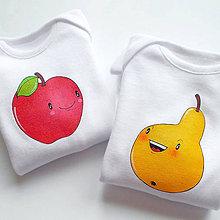 Detské oblečenie - Body jabĺčko a hruštička - 8737860_