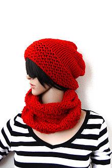 Čiapky - SeT... Simplicity... Farebné variácie  (Červená) - 8736980_