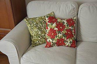 Úžitkový textil - Vianočné vankúše - 8736395_