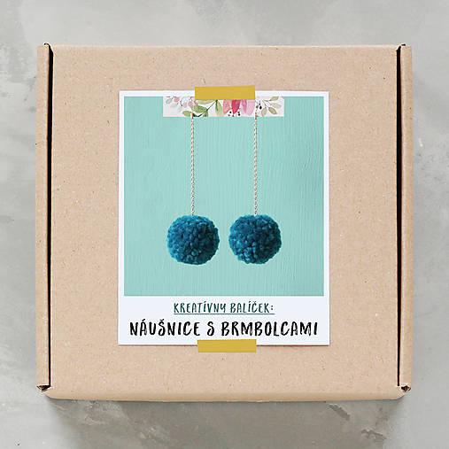Náušnice s brmbolcami - tvorivý balíček s návodom