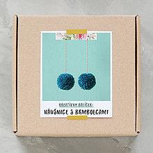 Návody a literatúra - Náušnice s brmbolcami - tvorivý balíček s návodom - 8737075_